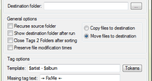 Sort music files according to Tags