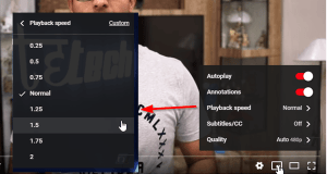 Change YouTube Playback Speed: Speed up or Slow down YouTube Videos