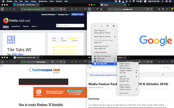 Split Firefox in multiple window