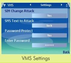 Virtual mobile security settings