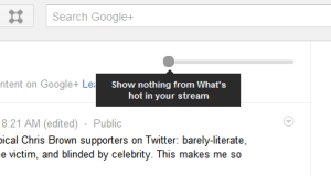 Turn off Whats Hot in Google Plus