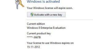 Windows Activation Key