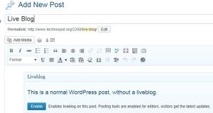 WordPress Create Live Posts