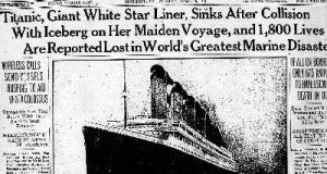 Titanic Sink Newspaper Cutting