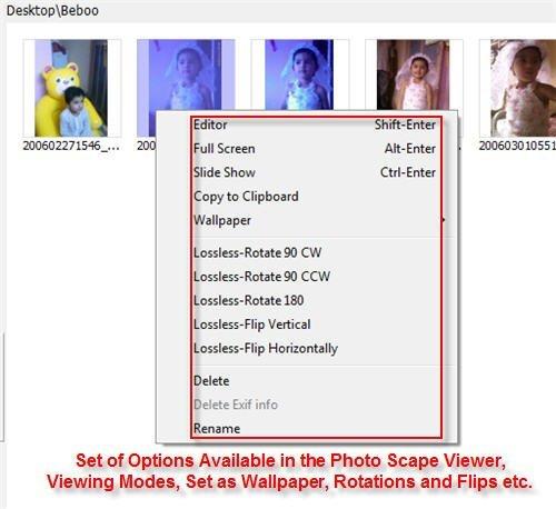 Photoscape Right click Integration