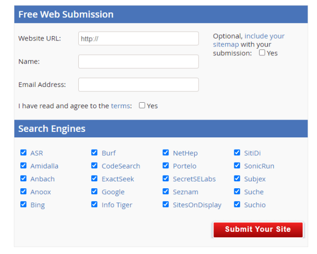 free web submission Image