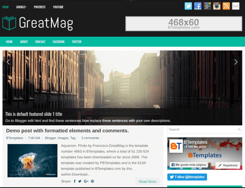 GreatMag Blogger Templates