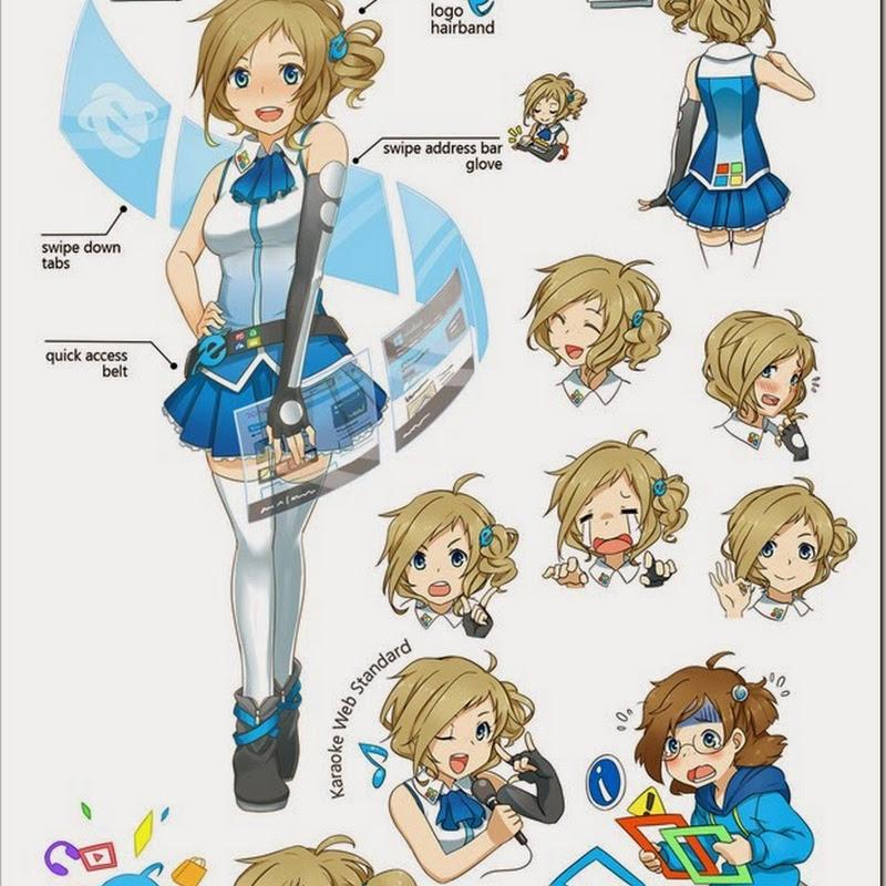 Inori Aizawa, Internet Explorer tan – comercial de anime