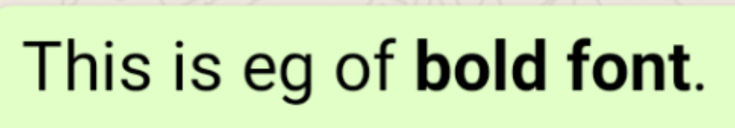 How to change font in WhatsApp.
