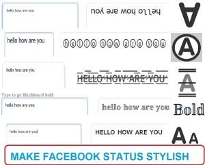 make facebook status stylish