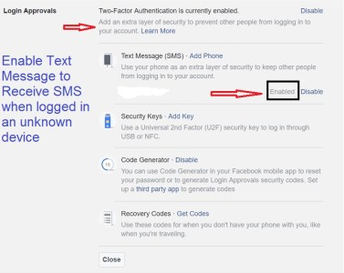 secure facebook account login approvals