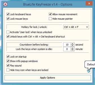 bluelife keyfreeze lock keyboard and mouse option