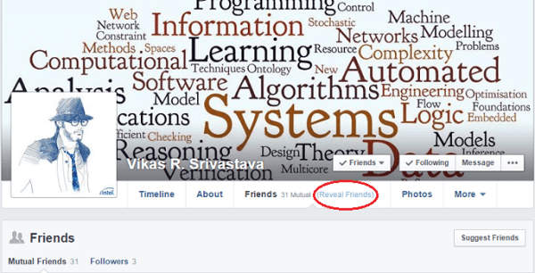 How to see hidden friends list of any Facebook user