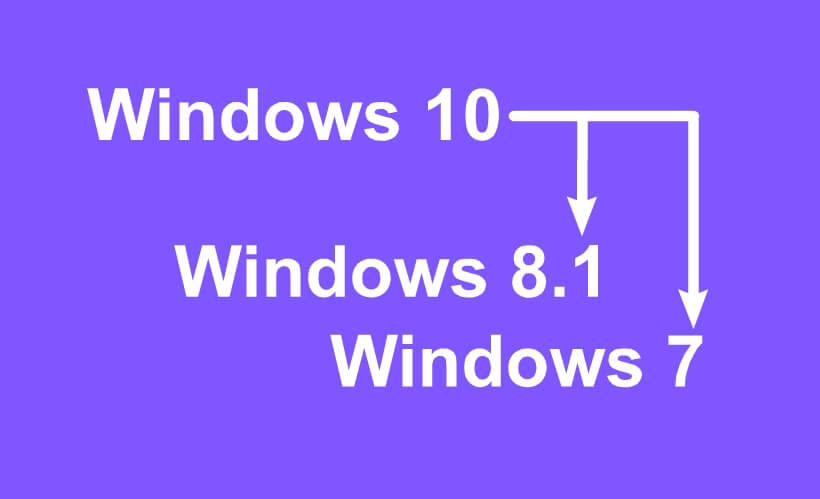 downgrade-Windows-10-to-Windows-7 or 8
