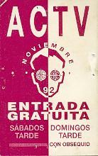 ACTV - Noviembre 92