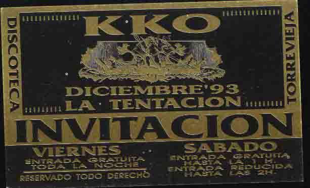 KKO diciembre 93 la tentacion