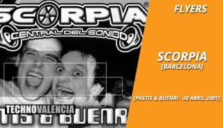 flyers_scorpia_-_pastis_&_buenri_-_30_abril_2001