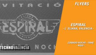 flyers_espiral_-_la_eliana_sabado_noche_1994_rojo