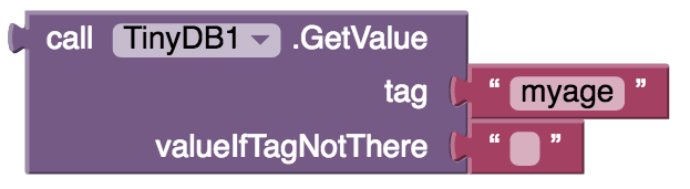 TinyDB my age value tag if not there
