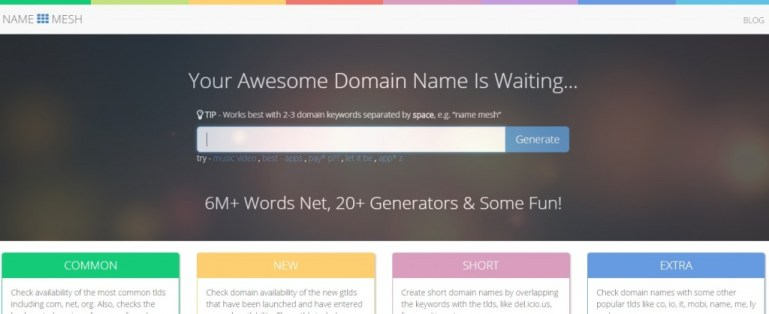 name mesh Tools for Picking the Perfect Domain Name