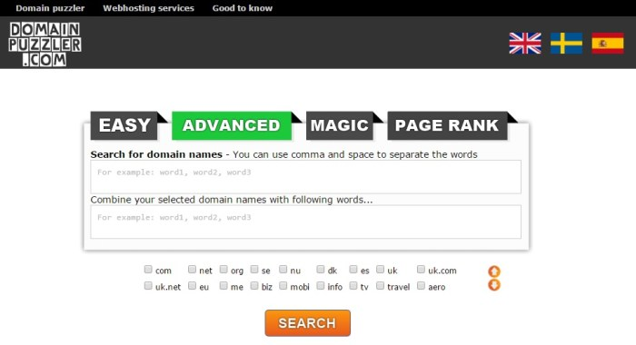 puzzler Tools for Picking the Perfect Domain Name