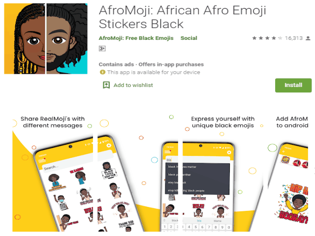 Best Emoji Apps For Android In 2021 AfroMoji African Afro Emoji Stickers Black