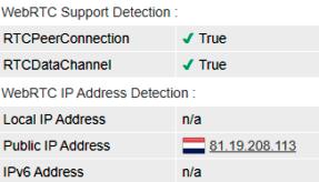 webRTC leak test iProVPN