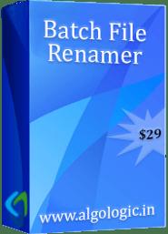 AlgoLogic Batch File Renamer Discount