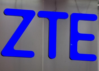BARCELONA, SPAIN - FEBRUARY 22:  A logo sits illuminated outside the ZTE pavilion on the opening day of the World Mobile Congress at the Fira Gran Via Complex on February 22, 2016 in Barcelona, Spain. The annual Mobile World Congress hosts some of the world's largest communications companies, with many unveiling their latest phones and wearables gadgets.  (Photo by David Ramos/Getty Images)