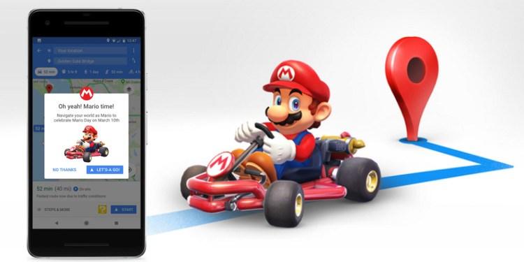 Mario Day เปลี่ยน Google Maps เป็นเกม Mario Kart