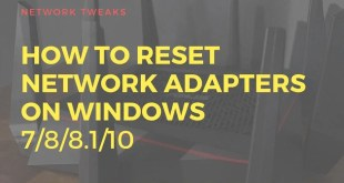 Reset Network Adapter on Windows 10