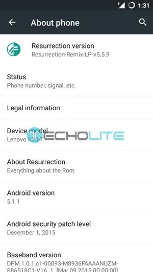 resurrection mix custom rom