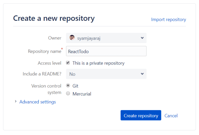 Adding an Existing Project to GitHub or Bitbucket Techomoro