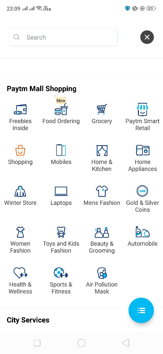how to order food on paytm