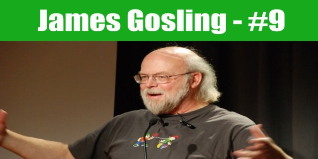 image: James Gosling top programmer in the world