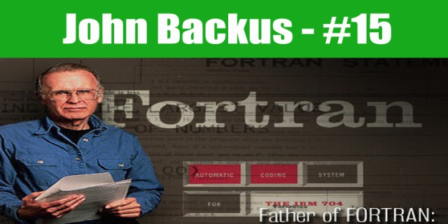 image: John Backus top programmer in the world