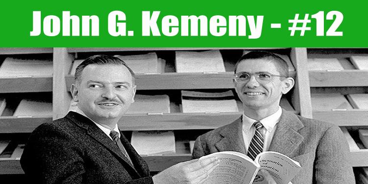 image: John George KEmeny top programmer in the world