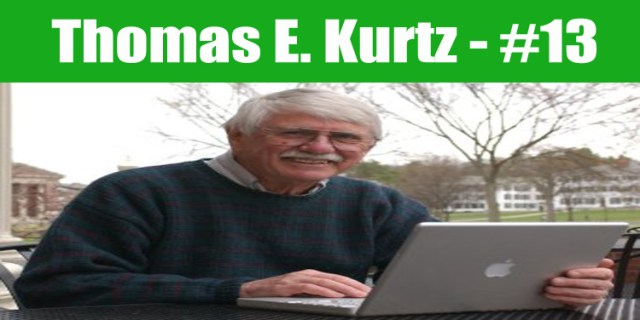 image: Thomas E. Kurtz top programmer in the world