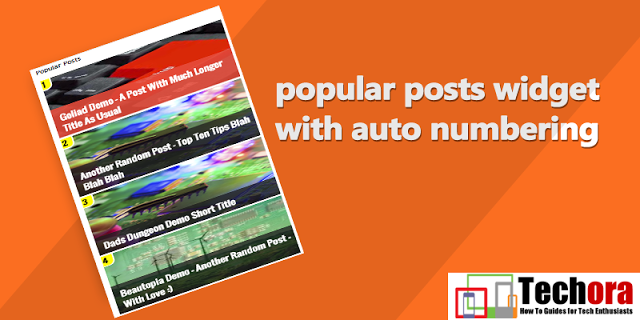 Awesome Popular Posts Widget With Counter Box For Blogger