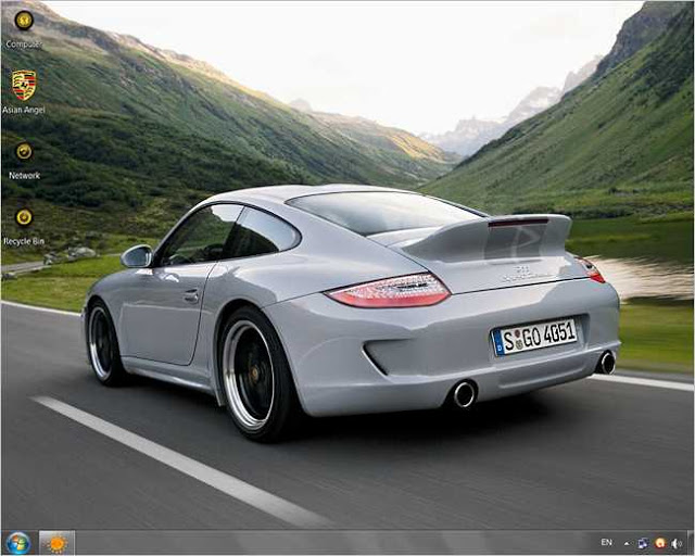 Elegant Porsche Theme For Windows 7 Free Download