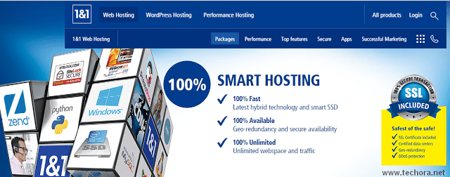 image of 1and1 best web hosting company in the world