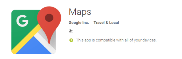 Google Maps the cool android app for android user
