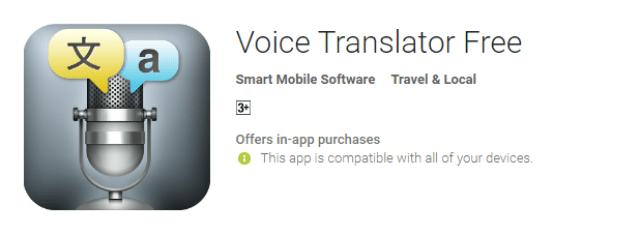 Voice Translator the cool android app for android user
