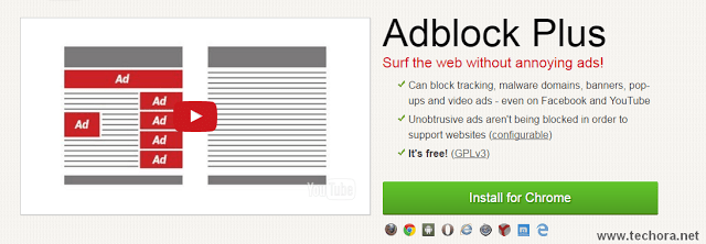 image of adblock plus best google chrome extensions