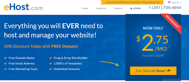 image of ehost best web hosting company in the world