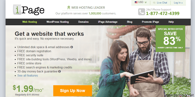 image of ipage best web hosting company in the world