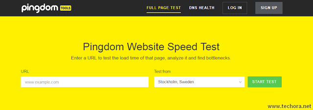 image of pingdom the best website seed test tools