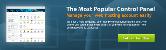 image of popular control panel of best web hosting sites services providers