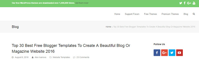 image of colorlib the best website to download free blogger templates