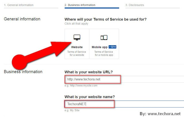 image of how to create a website terms of service page for your website